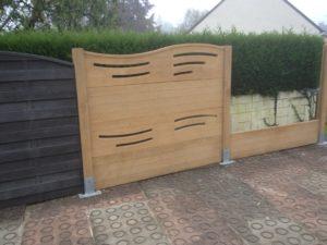 Aménagement extérieur, panneau en béton pour clôture